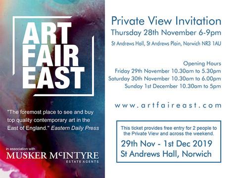 COMING UP THURS 28TH NOV - SUN 1ST DEC: Art Fair East Norwich