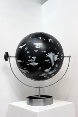 Flock_II_-_Acrylic_on_sphere-_60cm_diame