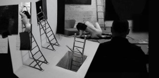 6th June - Life Drawing Challenge of Perspective (Two Life Models on a Ladder)