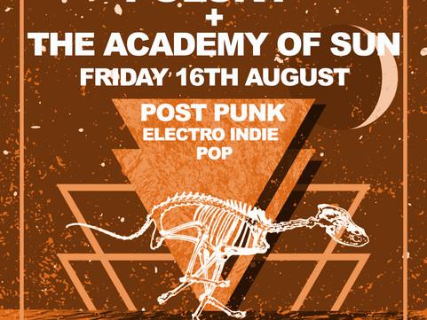 PAST LIVE MUSIC: Fri 16th Aug Electro Pop & Gothic Post Punk