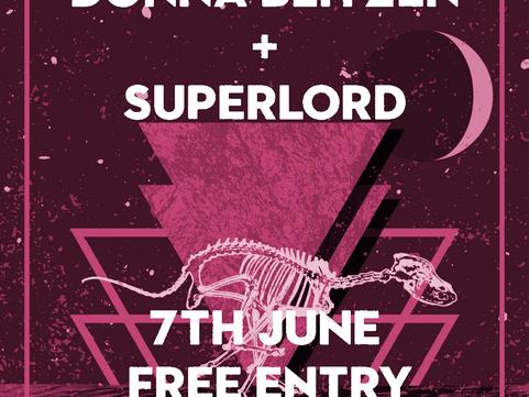 PAST LIVE MUSIC Fri 7th June: Donna Blitzen & Superlord