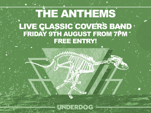 PAST LIVE MUSIC Fri 9th Aug: Classic Covers Live with The Anthems