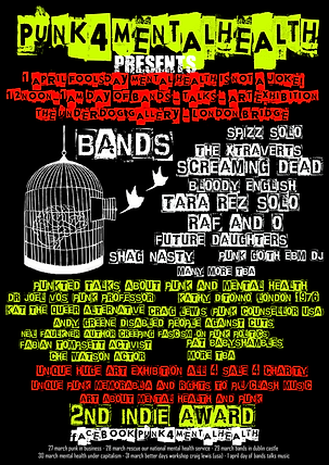 1st April - Punk4MentalHealth Fundraiser with Music, Art and