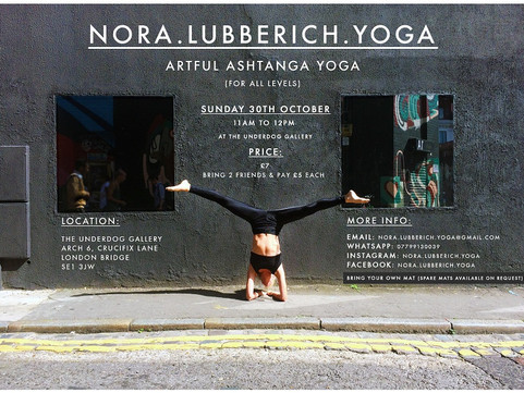 30th Oct: Artful Ashtanga Yoga Class