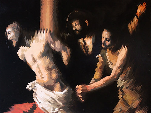 Christ at the column (after Caravaggio) By Will Teather