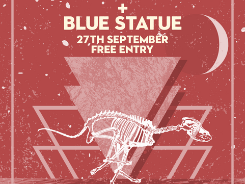 COMING UP FRI 27TH SEPT Rock n Roll with The Wisdom & Blue Statue