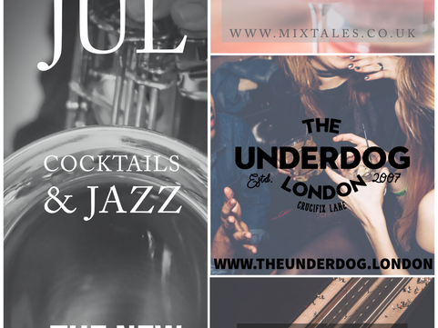 PAST POP UP Wed 31st Jul: Mixtales Cocktail Pop Up with Live Jazz