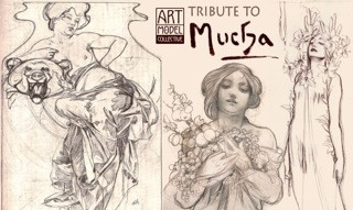9th May - Life Drawing Tribute to Alphonse Mucha