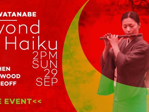 COMING UP Sun 29th Sept with Emi Watanabe, Nick Cohen, Patrick Wood – Beyond Haiku