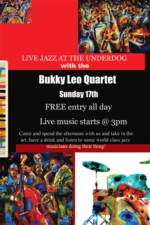 Bukky Leo Live Jazz at the Underdog! Sunday 17th September @3pm