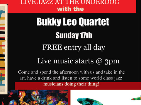 17th September:                                     Live Jazz with the Bukky Leo Quartet