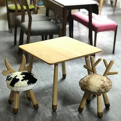 RIKU 白蠟木方形桌子+ 2椅子組合