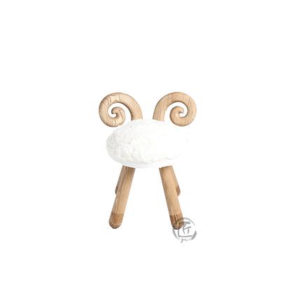 HISA 綿羊造型白蠟木椅子