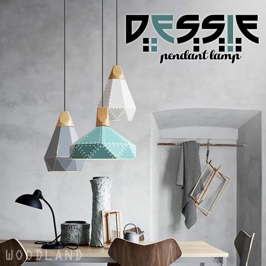 DESSIE 簡約鐡藝吊燈 (多孔實木頂盤)