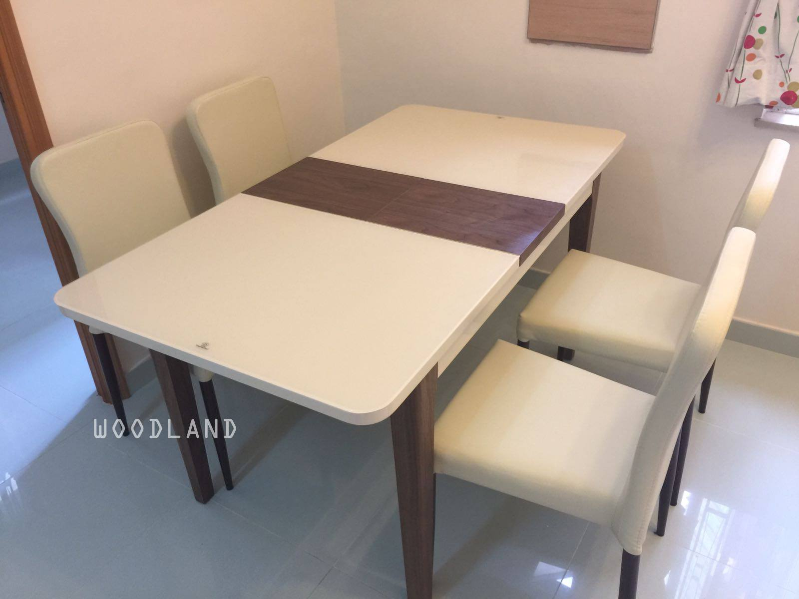 ALFONZE 實木伸縮餐桌