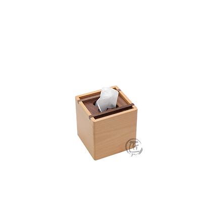 NAMI 實木拼色紙巾盒