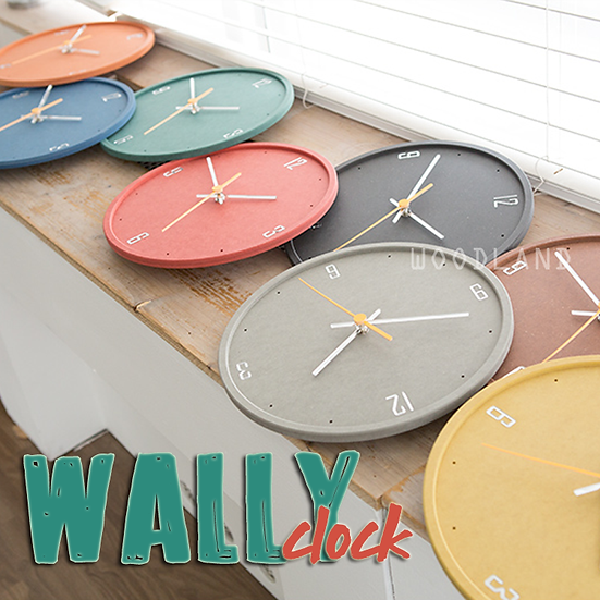 WALLY 彩色靜音掛鐘