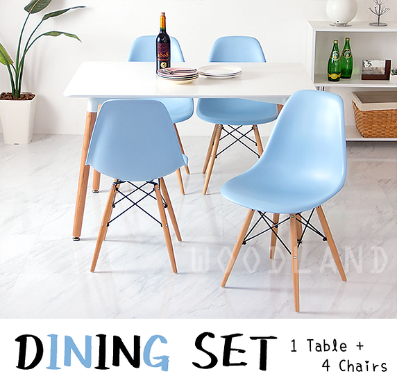 PASKO 組合套裝 ( 1餐桌+ 4餐椅 )