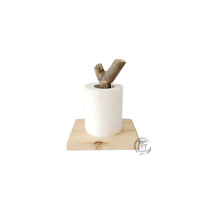 KAYO 樹枝造型實木廁紙/廚紙架