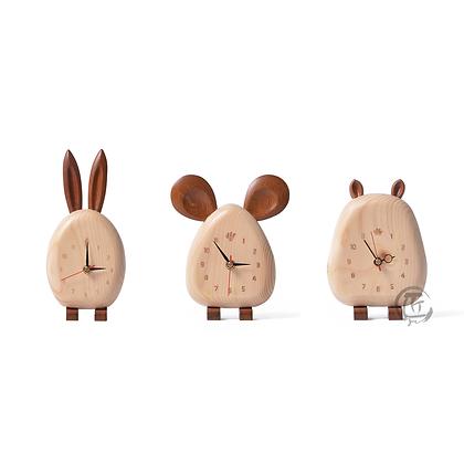 MIWA 松木動物造型座枱鐘