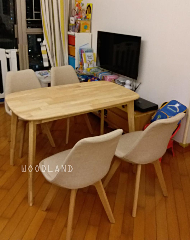 BOWER 實木餐桌 + TALORE 多色餐椅