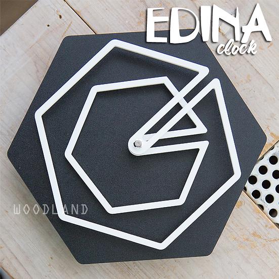 EDINA 幾何圖形靜音掛鐘