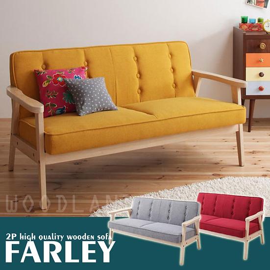 FARLEY 2座位簡約木梳化