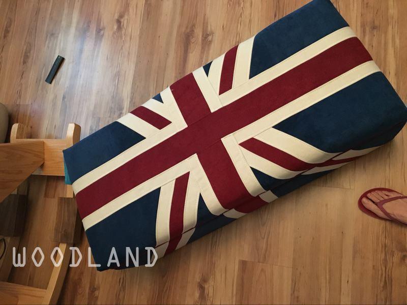 BRITTO 英國國旗換鞋儲物凳/腳踏