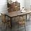 Thumbnail: LULA 黑胡桃木拼白橡木高背餐椅