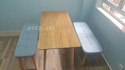 BOWER 實木餐桌椅组合