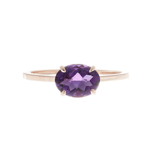 Amethyst Solitaire