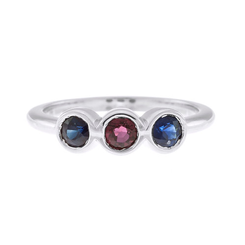 Sapphire and Ruby Midi Ring