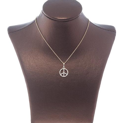 Diamond Peace Sign Pendant