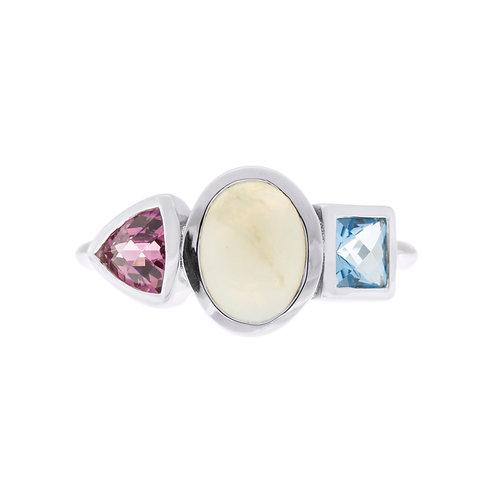 Opal Three Stone Ring