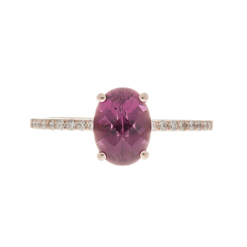 Purple Garnet Solitaire