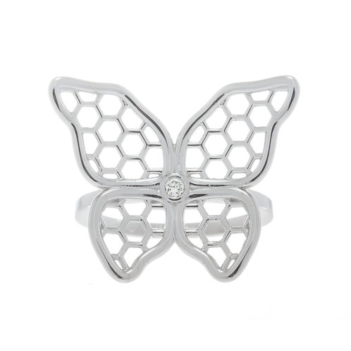 Butterfly and Diamond Ring