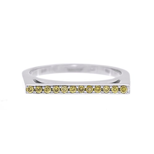 Fancy Yellow Bar Top Ring