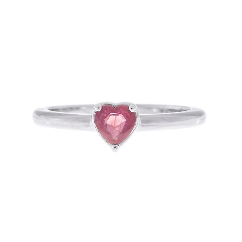 Ruby Heart Midi Ring