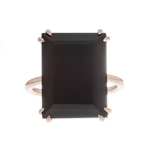 Black Agate Solitaire