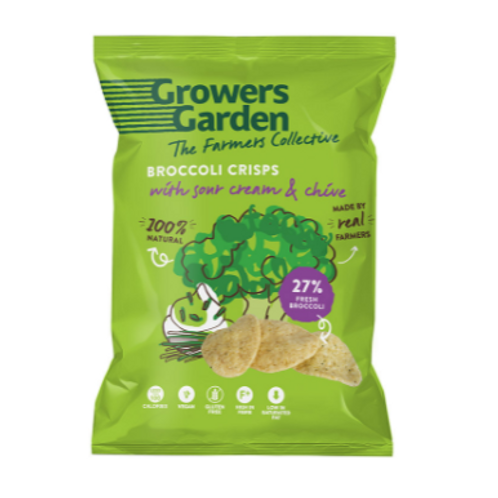 Growers Garden Broccoli Crisps - Sour Cream & Chive (78g)