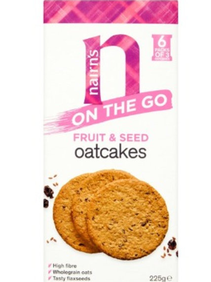 Nairns On The Go Fruit & Seed Oatcakes 225g