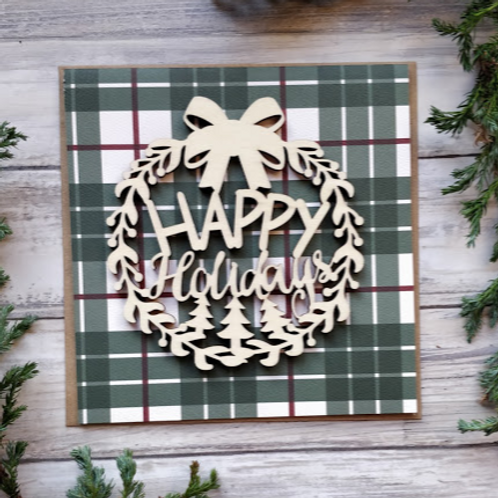 """Happy Holidays, 6""""x6"""", envelope included"""