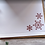 """Thumbnail: Rustic Snowflakes, 6""""x6"""", envelope included"""