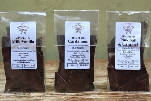 Chocolate Shards (45%, 60g) - Cardamom