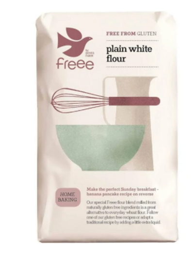 Doves Farm Gluten Free Plain White Flour (per 500g)