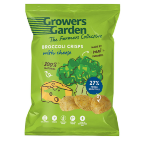 Growers Garden Broccoli Crisps - Cheese (78g)