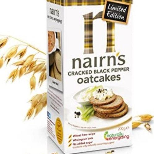 Nairns Cracked Black Pepper Oatcakes 200g
