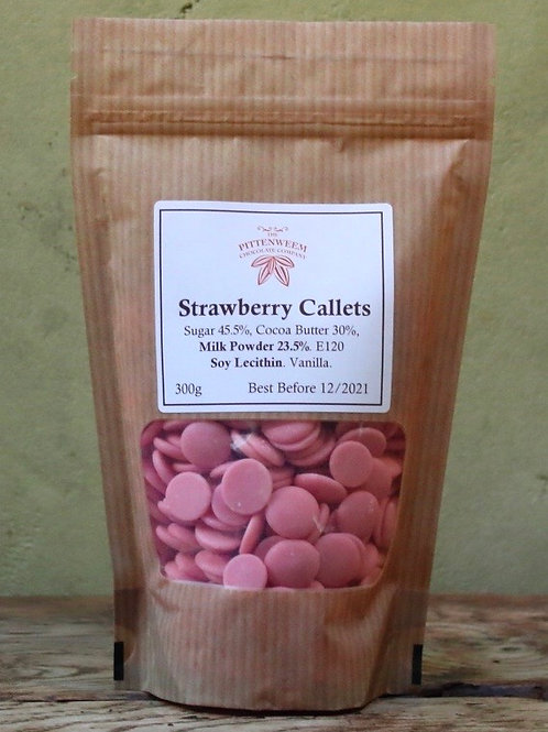 Strawberry Chocolate Callets (300g)