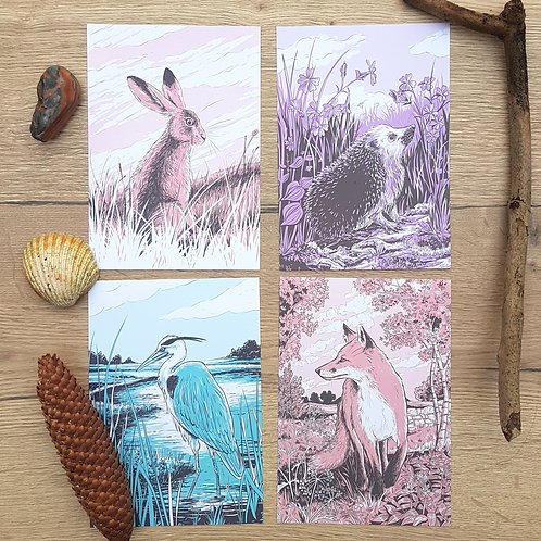 Wildlife mini-prints (A5 size, 4 designs available)