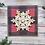 "Thumbnail: Buffalo Plaid Snowflake, 4""x4"", envelope included"